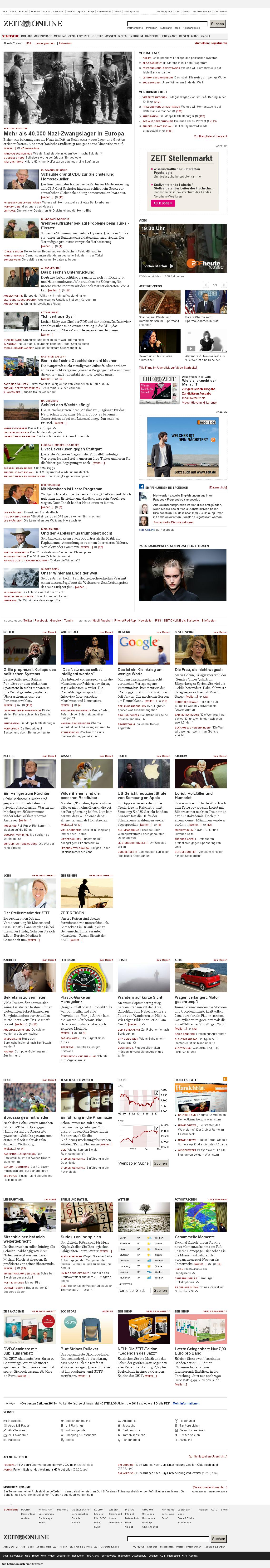 Zeit Online at Saturday March 2, 2013, 7:24 p.m. UTC