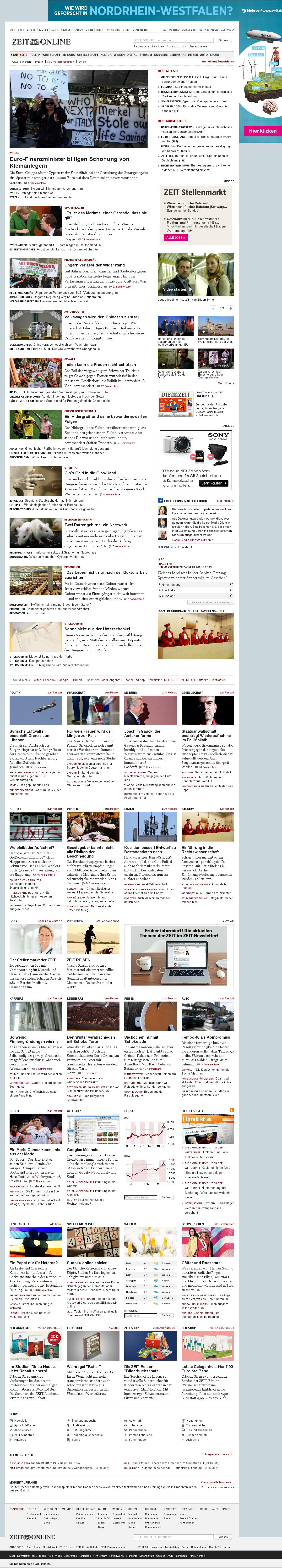 Zeit Online at Monday March 18, 2013, 11:32 p.m. UTC