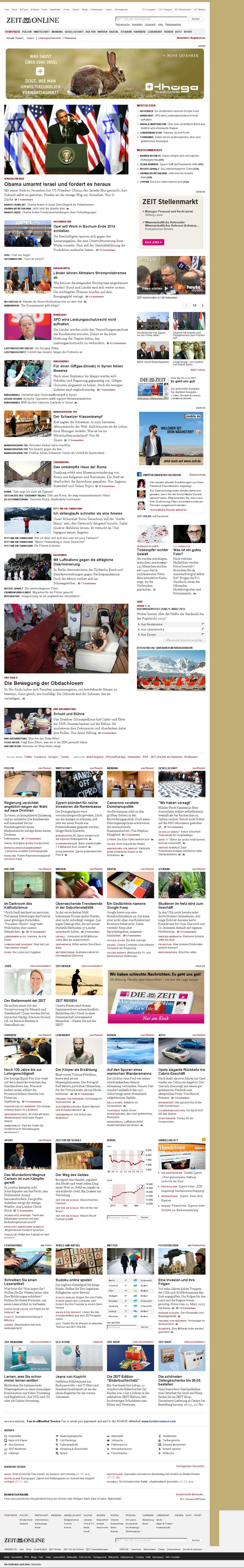 Zeit Online at Thursday March 21, 2013, 8:26 p.m. UTC