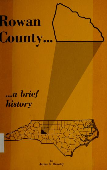Rowan County by James S. Brawley